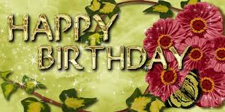 free illustration birthday greeting card flowers free image
