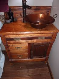 Bathroom Vanity With Copper Sink A 100 Flea Market Find Turned A Dry Sink Into A Bathroom Vanity