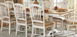 Distressed White Table Homelegance Hollyhock Trestle Pedestal Dining Set Distressed