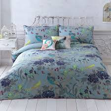 turquoise u0027magnolia peacock u0027 bedding set double butterfly home by