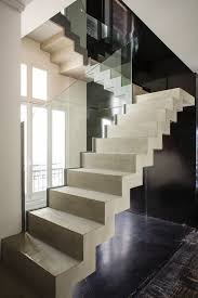 floating concrete stairs staircase contemporary with concrete