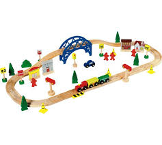 carousel train table set buy chad valley wooden train set 60 piece toy trains argos