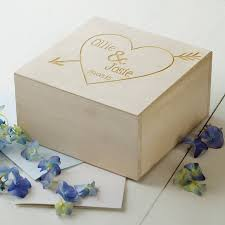 engraved keepsake box engraved wooden heart keepsake box by seahorse