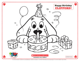 coloring pages of clifford the big red dog pictures to like or for