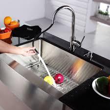 vigo farmhouse stainless steel kitchen sink chrome faucet and