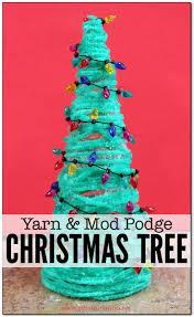 yarn and mod podge christmas tree craft tree crafts christmas