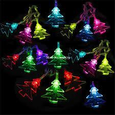 solar powered fairy lights for trees waterproof 5m 20 led solar powered christmas tree shape fairy string