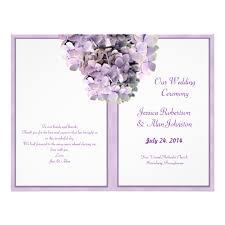 purple wedding programs purple hydrangea template wedding program zazzle