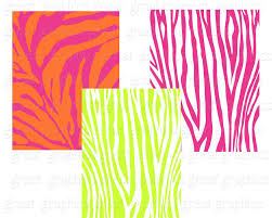 printable animal print digital paper zebra print pink zebra
