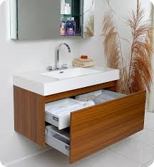 Ensuite Bathroom Furniture Fresca Mezzo Teak Modern Bathroom Cabinet For The Ensuite