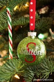 Blank Ornaments To Personalize Personalized Glitter Ornaments Happiness Is Homemade