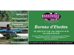 bureau d udes hydraulique menso sarl bureaux d études conseils consultants