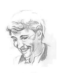 man laughing pencil sketch by gforce7 on deviantart