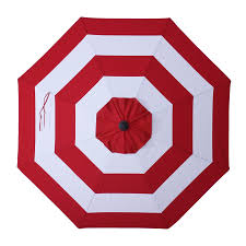 Striped Patio Umbrella 9 Ft by Shop Allen Roth Red Awning Market Patio Umbrella Common 9 Ft W