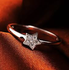 cute finger rings images Real 925 sterling silver cute crystal cubic zirconia star little jpg
