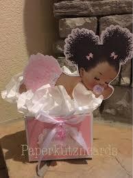 denim and diamonds baby afro puff baby shower