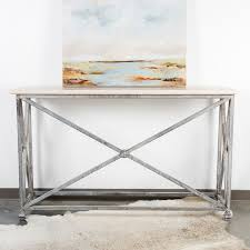 Metal Console Table Medallion Iron Metal Console Table