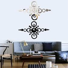 Diy Modern Home Decor Fashion Modern Home Decor Round Ring 3d Acrylic Mirror Sticker Diy