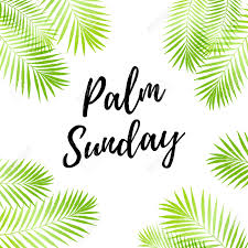 palm leaves for palm sunday palm sunday card poster with palm leaves border frame