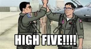 Archer Danger Zone Meme - high five danger zone archer top gun meme generator