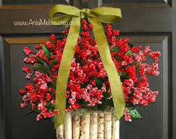 Outdoor Christmas Decorations At B Q by Pip Berry Christmas Wreaths For Front Door Wreaths Fall