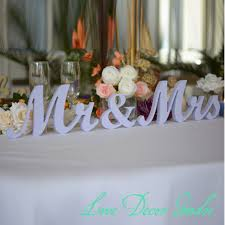 sweetheart table decor 7 wedding sign lavender mr mrs top table decoration signs