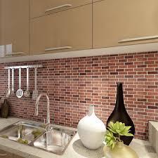 peel and stick brick backsplash tiles kitchen smart tiles 5 8 sq