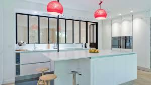 cuisine interieur cuisine avec verriere interieure blanche ilot et d interieur 5473710