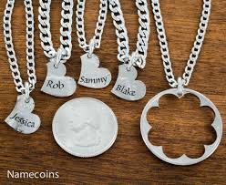 custom engraved necklaces name heart necklaces 5 custom engraved names namecoins