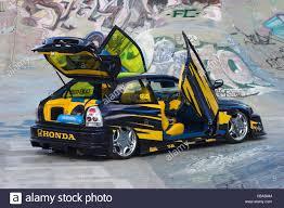 modified honda civic heavily modified boy racer honda civic japanese sports car stock