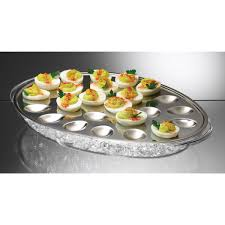 deviled egg serving dish eggs on serving tray