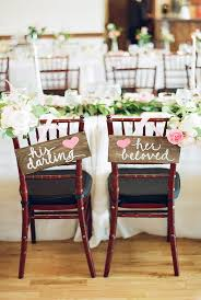chair decorations 30 awesome wedding sign decor ideas for groom chairs