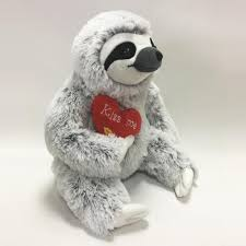 valentines day stuffed animals 2017 new design customized sloth stuffed animal plush