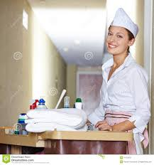 House Keeping by Cleaning Lady Doing Housekeeping In Hotel Stock Photos Image