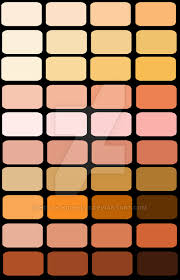 vector skin tone tutorial color palette skin tones by holly nicholls on deviantart