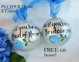 will you be my bridesmaid ornament etsy