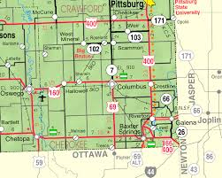 map of columbus columbus kansas