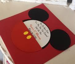 handmade custom red mickey mouse birthday invitations set of