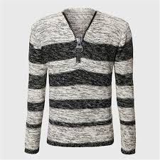 aliexpress com buy men unique zipper sweater v neck cable knit