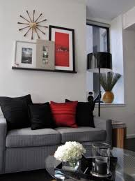 red and black living room decorating ideas grey black and red