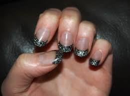 glitter tips acrylic nails how you can do it at home pictures