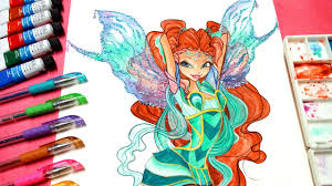 drawing tutorial draw winx club aisha bloomix