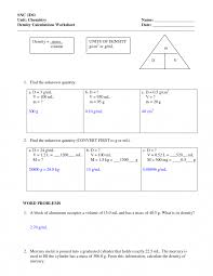 Landform Printable Worksheets Density Word Problems Worksheet Answers With Picture Of How To