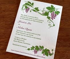 Winery Wedding Invitations Vineyard Inspired Wedding Invitation Designs Letterpress Wedding