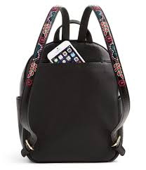 vera bradley leighton floral embroidered backpack in black lyst