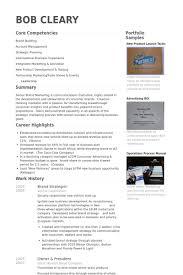 International Business Resume Sample by Brand Strategist Resume Samples Visualcv Resume Samples Database