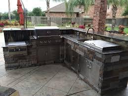 Outdoor Kitchen Cabinet Doors L Shaped Outdoor Grill Grey Brick L Shaped Outdoor Kitchen Glass