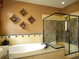 Bathroom With Bath And Shower Small Bathroom Tile Ideas Brown Corner Cabinets Glass Shower Bath