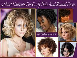 5 short haircuts for curly hair and round faces hairstyles easy