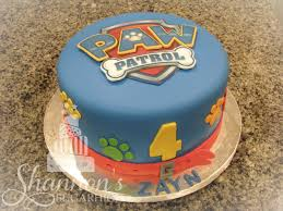 where to print edible images paw patrol fondant covered cake badge crest printed with